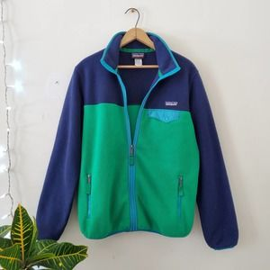 Patagonia Full Zip Snap-T Fleece Jacket in Navy